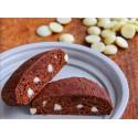 Brownie al cacao con gocce di cioccolato bianco